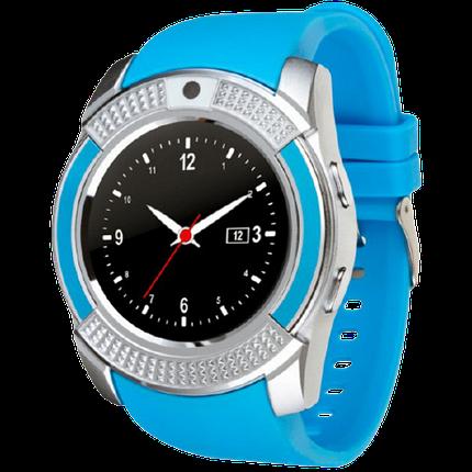Розумні годинник Smart Watch V8 сенсорні - смарт годинник Сині Топ, фото 2