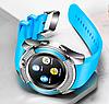 Розумні годинник Smart Watch V8 сенсорні - смарт годинник Сині Топ, фото 6