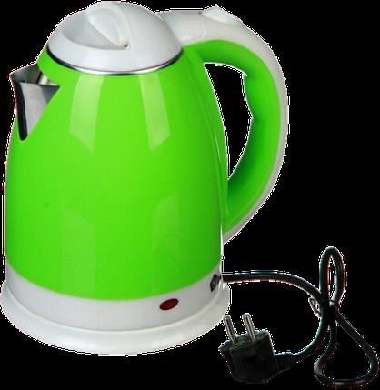 Электрочайник DOMOTEC MS-5025C - Чайник электрический 2.0 л 220V/1500W Зеленый Топ, фото 2