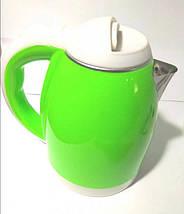 Электрочайник DOMOTEC MS-5025C - Чайник электрический 2.0 л 220V/1500W Зеленый Топ, фото 3