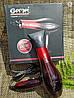 Фен для волос Gemei GM-1719 1800 Вт - Профессиональный фен для укладки и сушки волос (Красный) Топ, фото 2