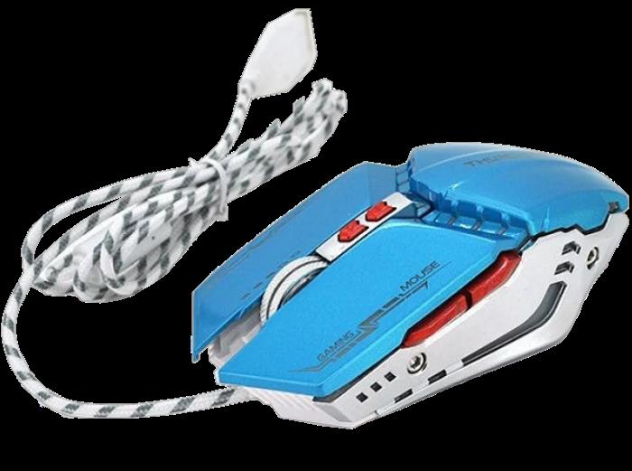 Игровая мышь с подсветкой Zornwee GX20 - игровая компьютерная мышка Синяя Топ