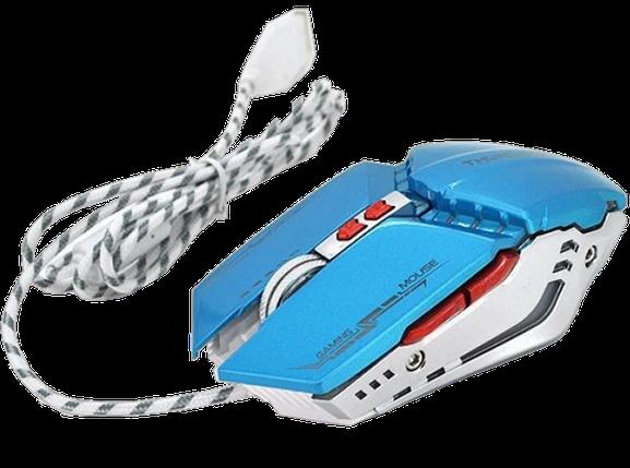 Игровая мышь с подсветкой Zornwee GX20 - игровая компьютерная мышка Синяя Топ, фото 2