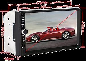 Автомагнітола 2DIN MP5 7018B + Bluetooth - магнітола 2 ДІН з екраном 7 дюймів, 2 пульта (звичайний і на кермо), фото 3