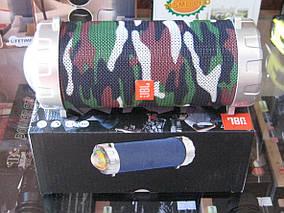 Портативная колонка JBL S07 - мобильная bluetooth колонка cо светомузыкой, FM радио, MP3 плеер (Хаки) Топ, фото 2