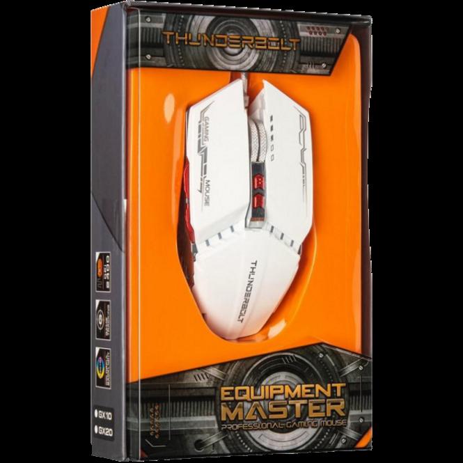 Игровая мышь с подсветкой Zornwee GX20 Белая Топ