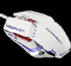 Игровая мышь с подсветкой Zornwee GX20 Белая Топ, фото 2