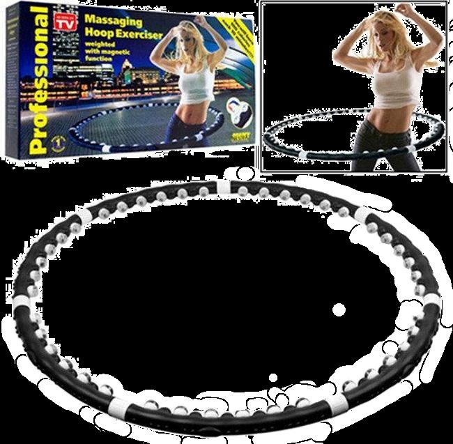 Массажный спортивный обруч HULA HOOP Professional с магнитами. Складной Хула Хуп АМ 282 Топ