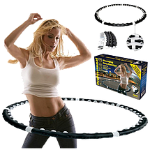 Массажный спортивный обруч HULA HOOP Professional с магнитами. Складной Хула Хуп АМ 282 Топ, фото 2