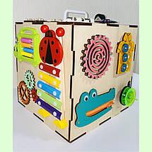 Бизикуб 24*24*24 на 30 елементів - розвиваючий будиночок, бизиборд, бизидом, бизикубик + ВІДЕООГЛЯД! Топ, фото 3