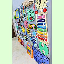 Развивающая доска размер 60*80 Бизиборд для детей 46 элементов! Топ, фото 2