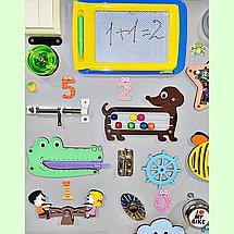 Развивающая доска размер 60*80 Бизиборд для детей 46 элементов! Топ, фото 3