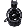 Игровые наушники A5 со светодиодной подсветкой и микрофоном - проводные компьютерные наушники USB, AUX, черные, фото 4
