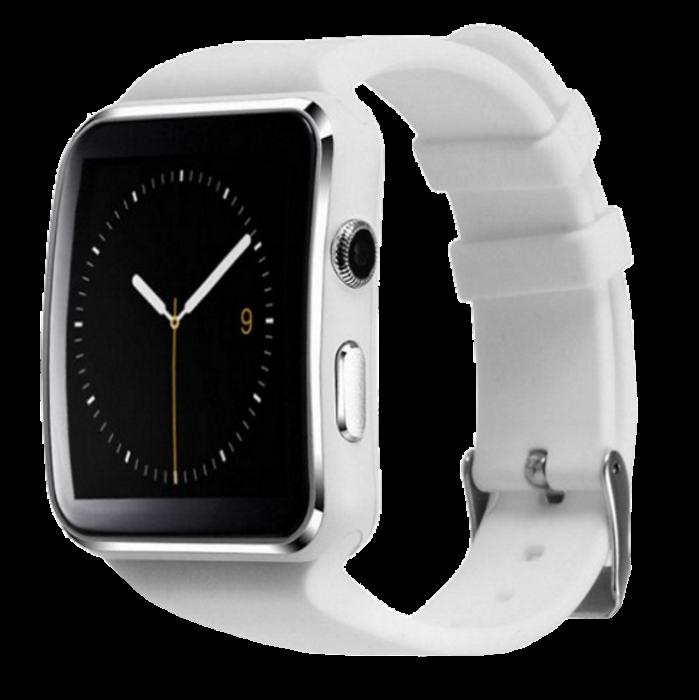 Умные часы Smart Watch X6 white - смарт часы со слотом под SIM карту Белые Топ