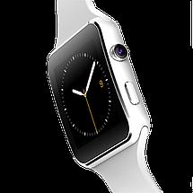 Умные часы Smart Watch X6 white - смарт часы со слотом под SIM карту Белые Топ, фото 3