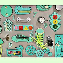 Развивающая доска размер 60*100 Бизиборд для детей Топ, фото 3