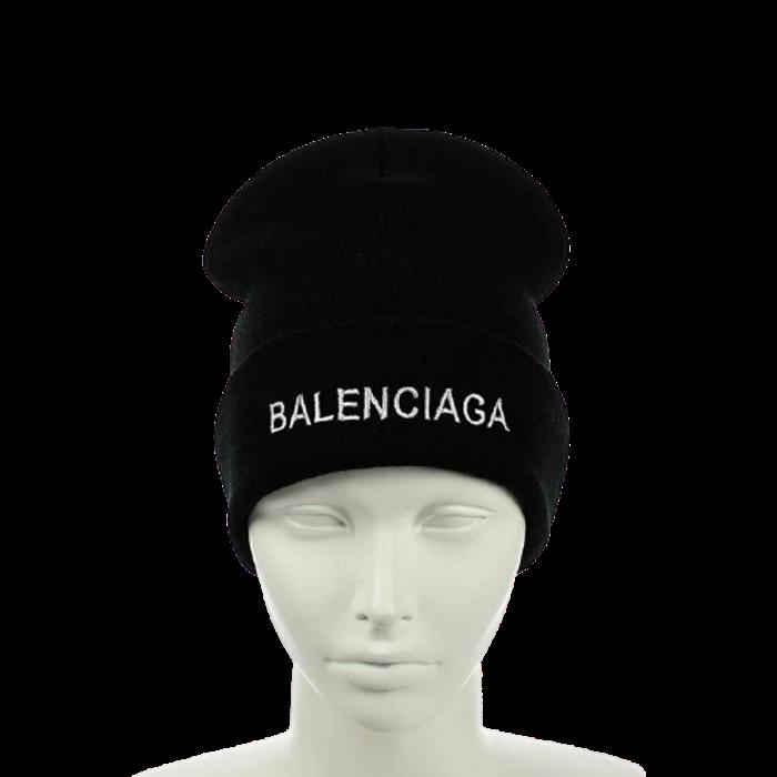"""Шапка """"Balenciaga"""" Черная - молодежная шапка-лопата с отворотом Топ"""