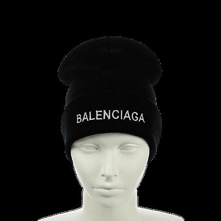 """Шапка """"Balenciaga"""" Черная - молодежная шапка-лопата с отворотом Топ, фото 2"""