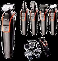 Бездротова машинка для стрижки волосся GEMEI GM-583 + Тример Топ, фото 2