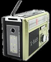 Радіоприймач з ліхтарем Golon RX-381 - Радіо з MP3, USB/SD і LED-ліхтариком (Gold) Топ, фото 2