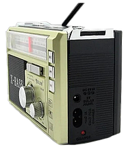 Радіоприймач з ліхтарем Golon RX-381 - Радіо з MP3, USB/SD і LED-ліхтариком (Gold) Топ, фото 3