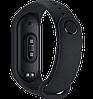 Фітнес браслет Smart Watch M4 - фітнес трекер, смарт браслет, пульсометр Чорний (репліка) Топ, фото 2