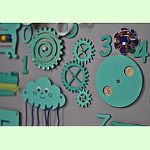 Розвиваюча дошка розмір 50*60 Бизиборд для дітей Бірюзовий Топ, фото 3