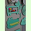 Розвиваюча дошка розмір 50*60 Бизиборд для дітей Бірюзовий Топ, фото 2