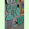 Розвиваюча дошка розмір 50*60 Бизиборд для дітей Бірюзовий Топ, фото 4