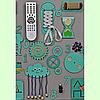 Розвиваюча дошка розмір 50*60 Бизиборд для дітей Бірюзовий Топ, фото 6