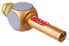 Микрофон караоке WSTER WS-1816 - беспроводной Bluetooth микрофон с cветомузыкой, слотом USB и FM тюнером Топ, фото 2
