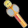 Микрофон караоке WSTER WS-1816 - беспроводной Bluetooth микрофон с cветомузыкой, слотом USB и FM тюнером Топ, фото 3