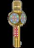 Микрофон караоке WSTER WS-1816 - беспроводной Bluetooth микрофон с cветомузыкой, слотом USB и FM тюнером Топ, фото 4