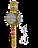 Микрофон караоке WSTER WS-1816 - беспроводной Bluetooth микрофон с cветомузыкой, слотом USB и FM тюнером Топ, фото 5