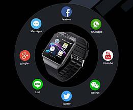 Умные часы Smart Watch DZ-09 Black - смарт часы под SIM-карту и SD карту (Черные) Топ, фото 3