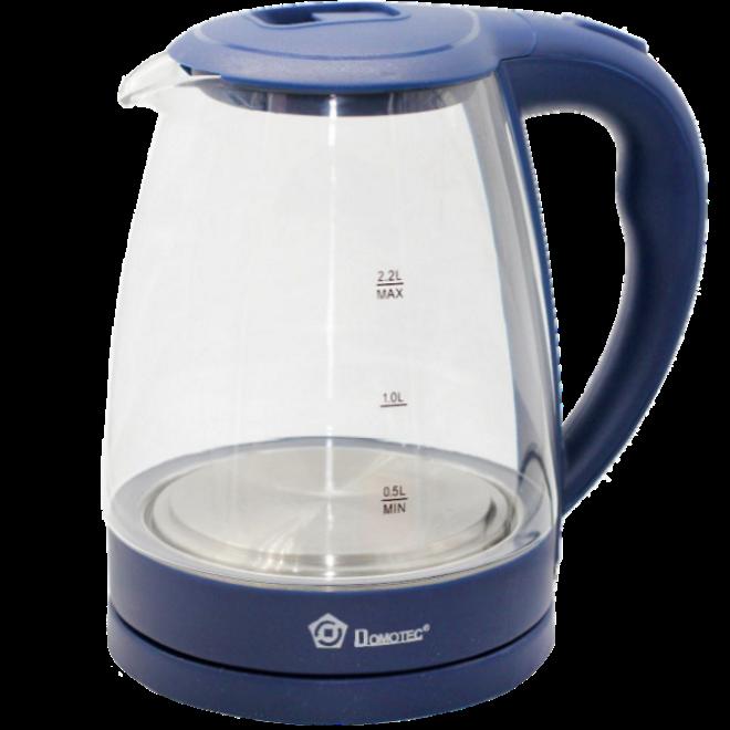 Электрочайник Domotec MS-8211 (2,2 л / 2200 Вт) - Чайник электрический с LED подсветкой Синий Топ