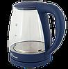 Электрочайник Domotec MS-8211 (2,2 л / 2200 Вт) - Чайник электрический с LED подсветкой Синий Топ, фото 2