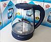 Электрочайник Domotec MS-8211 (2,2 л / 2200 Вт) - Чайник электрический с LED подсветкой Синий Топ, фото 4