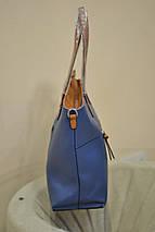 Сумка женская с подкладкой Синяя (30x35х13) Топ, фото 3