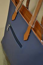 Сумка женская с подкладкой Синяя (30x35х13) Топ, фото 2