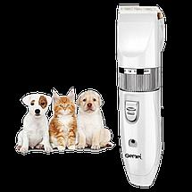 Машинка для стрижки животных Gemei GM-634 USB - Профессиональная машинка для стрижки собак и кошек Топ, фото 3