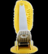 Міні вентилятор USB з прищіпкою Mini Fan ML-F168 - вентилятор з акумулятором на прищіпці Жовтий Топ, фото 3