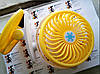Міні вентилятор USB з прищіпкою Mini Fan ML-F168 - вентилятор з акумулятором на прищіпці Жовтий Топ, фото 6