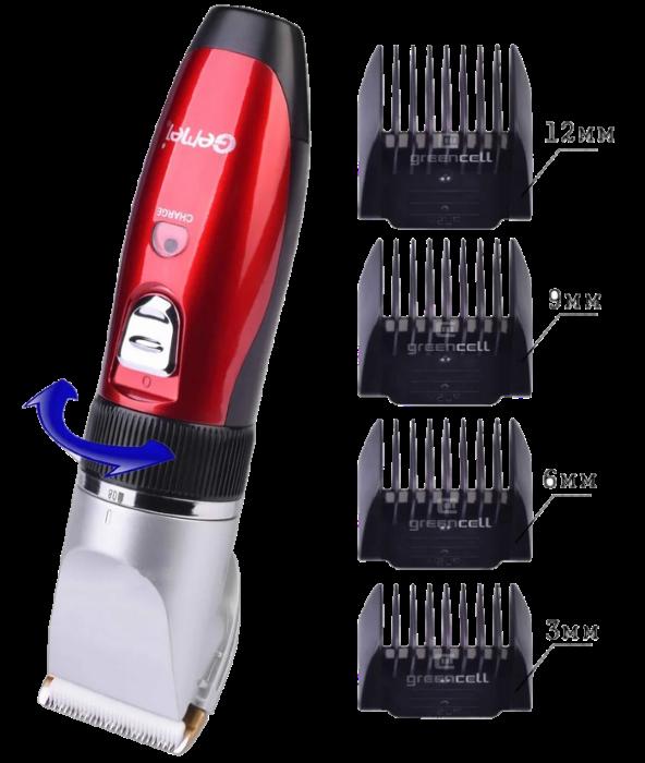 Машинка для стрижки Gemei GM-6001 - Бездротова акумуляторна машинка, тример, бритва Топ