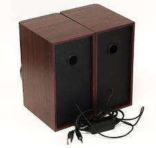 Комп'ютерні колонки FnT SW-2031 дерев'яні - акустичні колонки для ПК, колонки для ноутбука Топ, фото 3