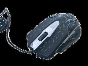 Клавіатура V-100P + мишка - ігровий комплект дротова клавіатура з 3-ма підсвічуваннями + миша Топ, фото 3