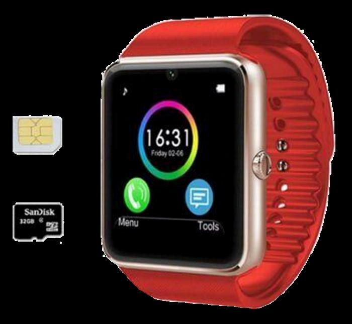 Розумні годинник Smart Watch GT08 Red - смарт годинник під SIM-карту Червоні Топ