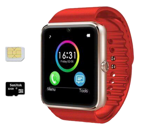 Розумні годинник Smart Watch GT08 Red - смарт годинник під SIM-карту Червоні Топ, фото 2