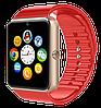 Розумні годинник Smart Watch GT08 Red - смарт годинник під SIM-карту Червоні Топ, фото 3