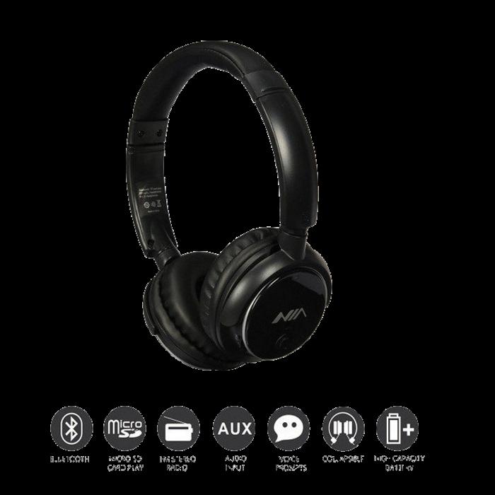 Бездротові навушники NIA-Q1 4-в-1 - Bluetooth-навушники з MP3 плеєром, FM радіо, гарнітура Топ